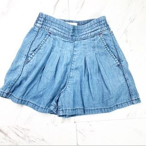 BODEN Girl | Chambray Shorts Size 4